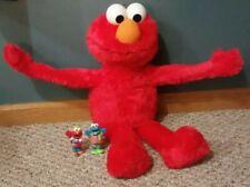 2012 Elmo big hug me Sesame Street 22in singing talking plush Hasbro + 2 figures