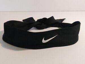 NWOT Nike Head Tie Dry Dri Fit Headband Tennis Running Yoga New Black