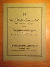 Broschüre Der Radio Emanator Gewerkschaft Bertha II Dortmund Bergbau Grube Zeche