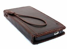 genuine italian leather vintage Case fit HTC One M7 book wallet slim crown cover