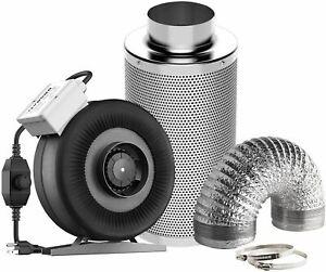 "VIVOSUN 4"" Inline Fan Exhaust Fan 4"" Carbon Filter & Ducting Kit For Grow Tent"