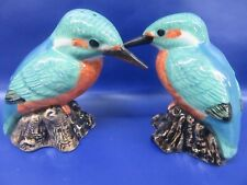 More details for kingfisher salt and pepper pots - kingfisher cruet - gift boxed