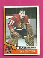1974-75 OPC CHICAGO HAWKS TONY ESPOSITO VG CARD  (INV# D3293)