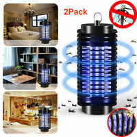 2Pcs 110V Electric UV Mosquito Fly Bug Insect Zapper Killer With Trap Lamp Light