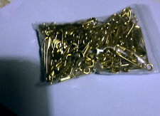 100 gilt safety pins Size 0 or 27mm- head to tail - MORE DETAILS IN DESCRIPTION