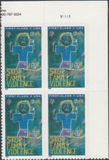 1 #B3 DOMESTIC VIOLENCE  SEMI POSTAL PB OF 4.  BIN $2.25.