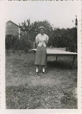 PHOTO ANCIENNE - VINTAGE SNAPSHOT - TENNIS DE TABLE PING PONG FEMME MODE-FASHION