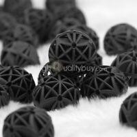 50 Bio Balls Kugeln Filtermaterial für alle Aquarien und Teich Filter Scwarz