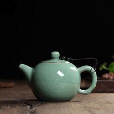 Chinese Longquan Klin Celadon Ceramic Kung Fu Teapot With Filter 240ml