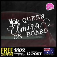 Custom Name Queen Baby On Board 225x115mm Waterproof Vinyl Sticker Decal