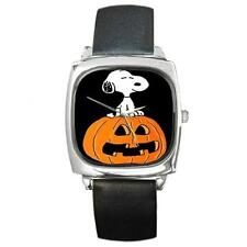 SNOOPY HALLOWEEN PUMPKIN SILVER-TONE WATCH 6 OTHER STYLES