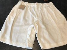 Men's Turnbury Cream White Linen Chino Bermuda Shorts Size 36 - Nwt
