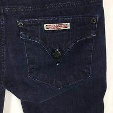 "Hudson Women's Jeans Flap Pocket Dark Wash Skinny Denim Inseam 29"" Rise 7"" Sz 24"