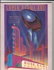 1983 NFL Super Bowl XVII Miami Dolphins vs. Washington Redskins Program