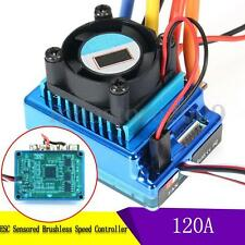 120A Esc Sensored Brushless Speed Controller For 1/8 1/10 Rc Car Crawler