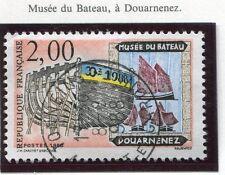 TIMBRE FRANCE OBLITERE N° 2545 DOUARDENEZ MUSEE DU BATEAU