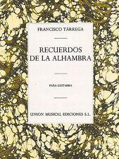 Francisco tarrega RECUERDOS DE LA ALHAMBRA imparare a giocare CHITARRA MUSICA LIBRO