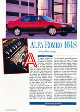 1991 Alfa Romeo 164S 164 S  -  Classic Car Original Print Article J80
