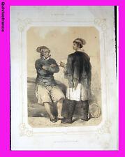 """Litho """"La Normandie illustrée"""" Pêcheurs Dieppois (Seine Inf.) - Signé Lalaisse"""