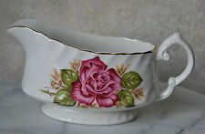 GRAVY BOAT - PRINCESS ROSE by WOOD AND SONS, Red rose, England Ironstone