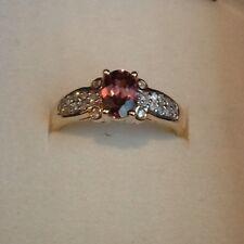 14kt Gold Amethyst Diamond Ring!! Brand New!! 20 Diamonds!! Free Shipping!!