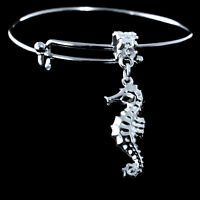 Seahorse Bracelet  sea horse jewelry Seahorse charm bracelet beach bracelet gift
