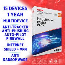 Bitdefender Family Pack MULTIDEVICE 2020 15 devices 1 year FULL EDITION Key +VPN