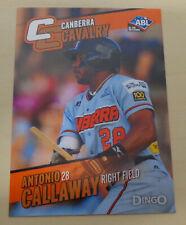 2014 ANTONIO CALLAWAY Australian Baseball League - Canberra Cavalry