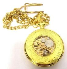 Reloj de Bolsillo Boxx Hombre Mecánico Tono Oro Cadena de 12 pulgadas Boxx 5098.02