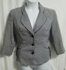 my valentine women's size 16 blazer. formal jacket. Three button. black and whit