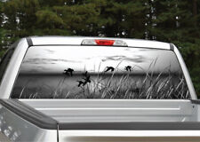 Ducks Flying Scenery (black and white) Rear Window Decal Graphic for Truck SUV