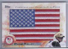 New listing Paige Railey 2012 Topps U.S. Olympic Team Hopefuls Usa Flag Patch Flp-Pr