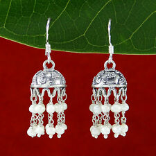 Women 925 Sterling Silver Dangle Jhumka Fashion Earrings Cocktail Party Jewelry