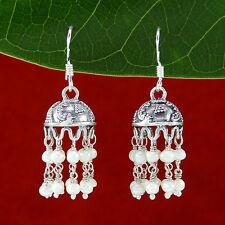 Women 925 Sterling Silver Dangle Jhumka Fashion Earrings Cocktail Party Jewelry