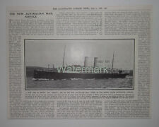 The ORSOVA One Of The New Austalian Mail Liners Orient Steam 1909 News Clipping