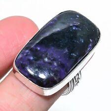 Russian Charoite Gemstone Handmade Ethnic Style Jewelry Ring Size 8.5 VJ-8705
