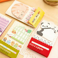 Animal Cat Panda Cute Kawaii Memo Sticky Notes Planner Stickers Paper Book#