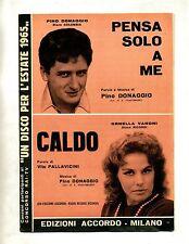 PENSA SOLO A ME - CALDO # Spartito Accordo 1965 # Pino Donaggio - Ornella Vanoni