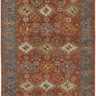 Irie Traditional Oushak Rug, Flora/Fauna, Clay Red Area Rug
