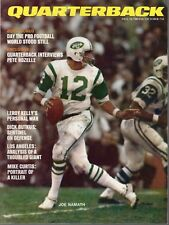 1969 (Oct.) Quarterback Football magazine, Joe Namath, New York Jets ~ Good