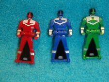 Power Rangers Super Megaforce Legendary Key  TIME FORCE Green, Blue, Red