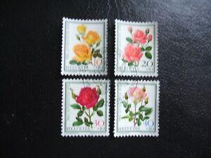 Switzerland 1972 Pro Juventute - Roses. Used Set of 4 Ex FDC.