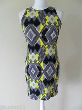 Paul's Boutique bodycon dress, size 10 (M) aztec, yellow/grey, short, brand new