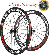 Superteam 60mm Road Bike Wheels Racing Bicycle wheels Carbon Clincher 700C Race
