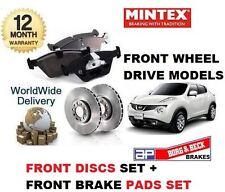 FOR NISSAN JUKE 1.6i 1.5DT DCi 4X2 2010-> FRONT BRAKE PAD SET + brake DISCS set