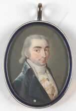"""Gijsbertus Johannes van den Berg (1769-1817) """"Portrait of a gentleman"""",miniature"""