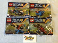 Lego Nexo Knights Lot of 4 30371/30372/30373/30374 Polybags New/Sealed/H2F