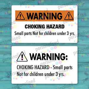 Choking Hazard Stickers Warning Labels 21x38mm Small Parts Product Packaging