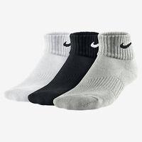 Nike Socks 3 pairs mens ladies long - Qaurter sports running cushioned socks