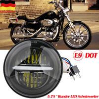 """5.75"""" Zoll Rund LED Projektion Haupt Scheinwerfer DRL Hi/Low Beam für Harley"""